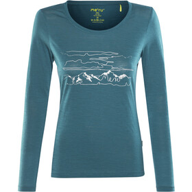 Meru Glomma - Camiseta de manga larga Mujer - azul